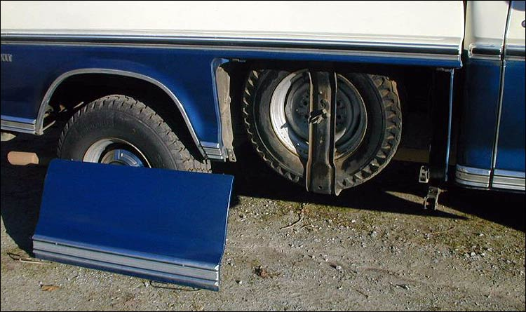 Where To Put Spare Tire On 71 F250 Camper Special