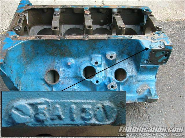 1965 ford mustang location of engine number  1965  get