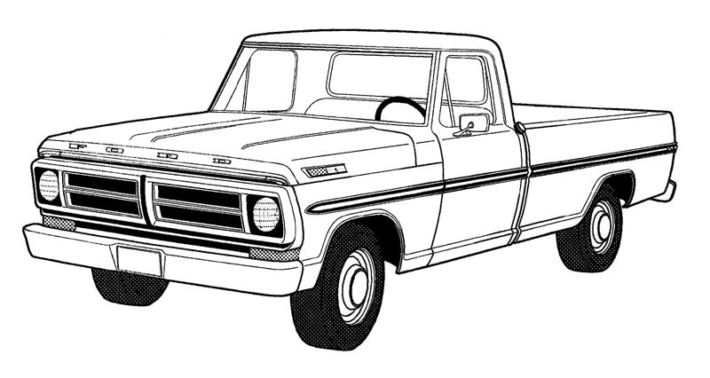 Printable Pick Up Truck Coloring Pages  RedCabWorcester