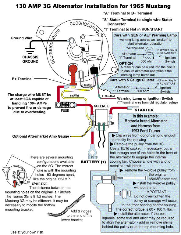 3Ginstall 3g alternator the ford torino page forum page 1 ford 6g alternator wiring diagram at mr168.co
