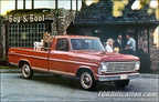 1967 Ford Truck dealer advertising postcards