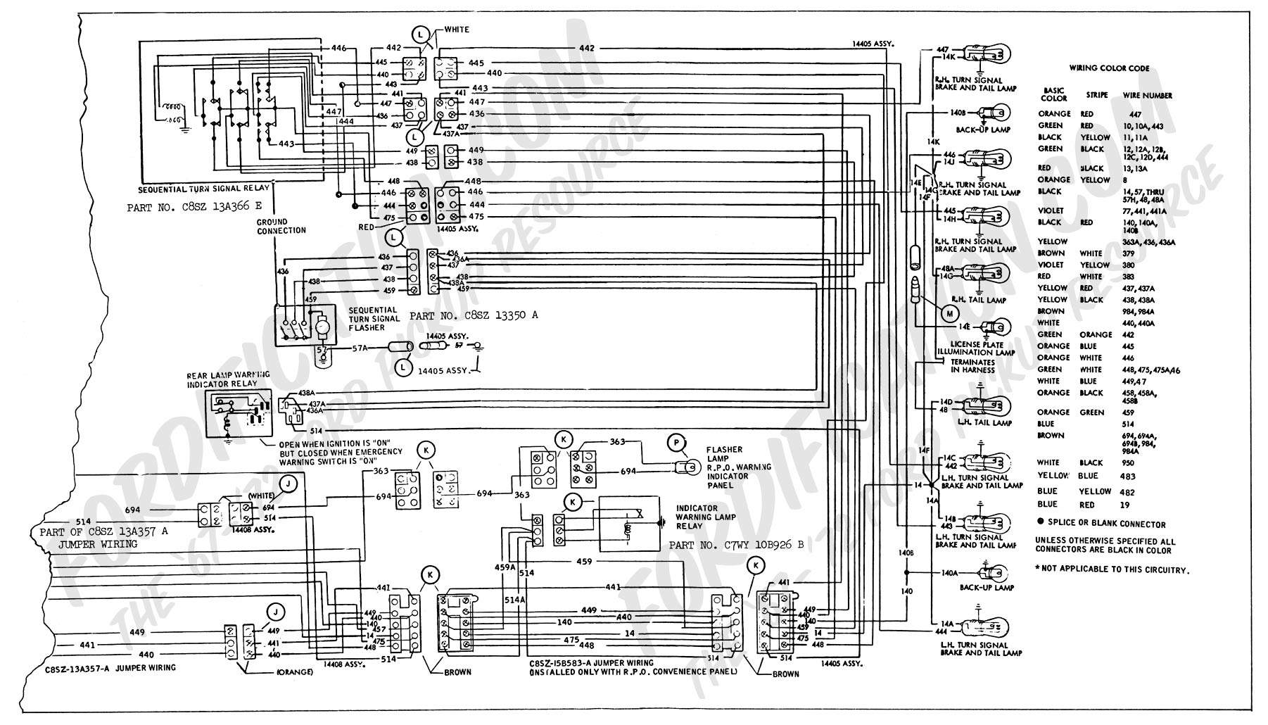 fordification com tsb database u2022 view topic article 1268 turn rh fordification com 1968 ford thunderbird wiring diagram 1968 ford thunderbird wiring diagram