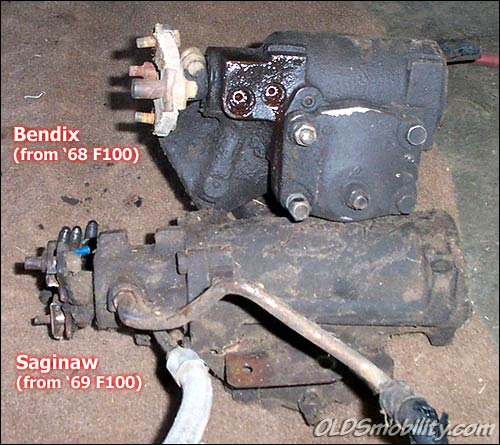1968 manual steering with column shift 3 speed converting to p s