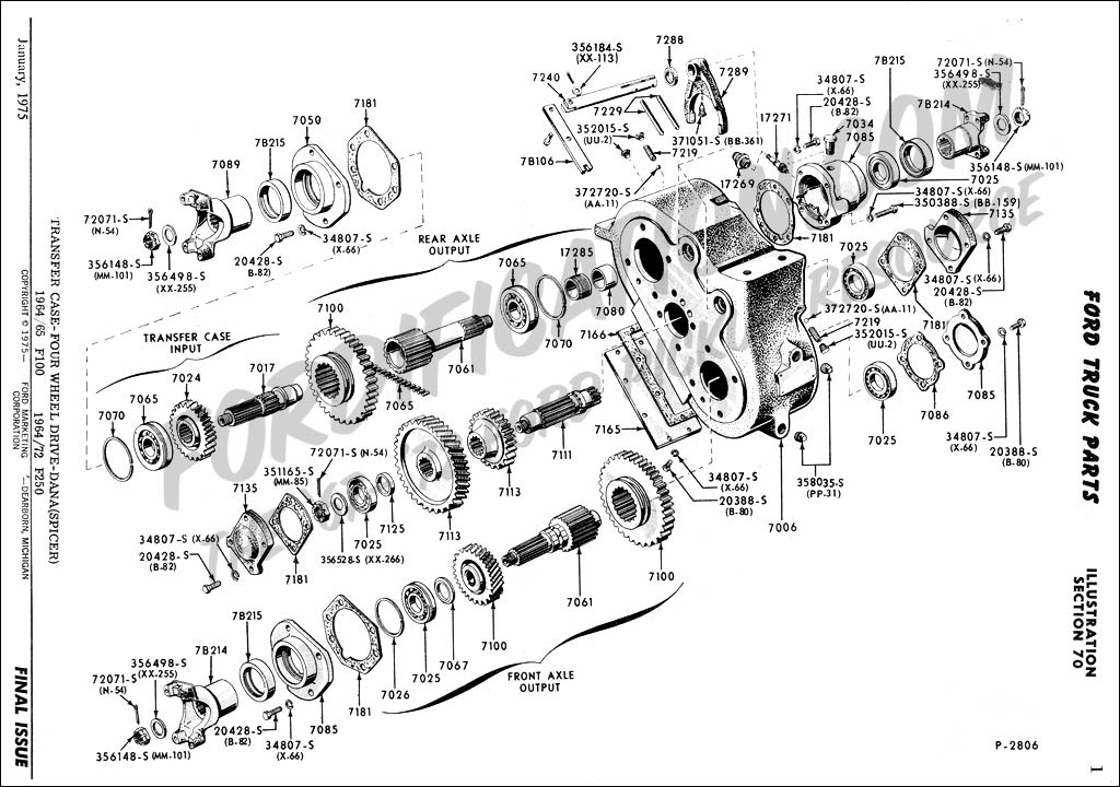 Transfer case_Spicer_64 72F250 ford truck technical drawings and schematics section g all wheel drive transfer case diagram at edmiracle.co