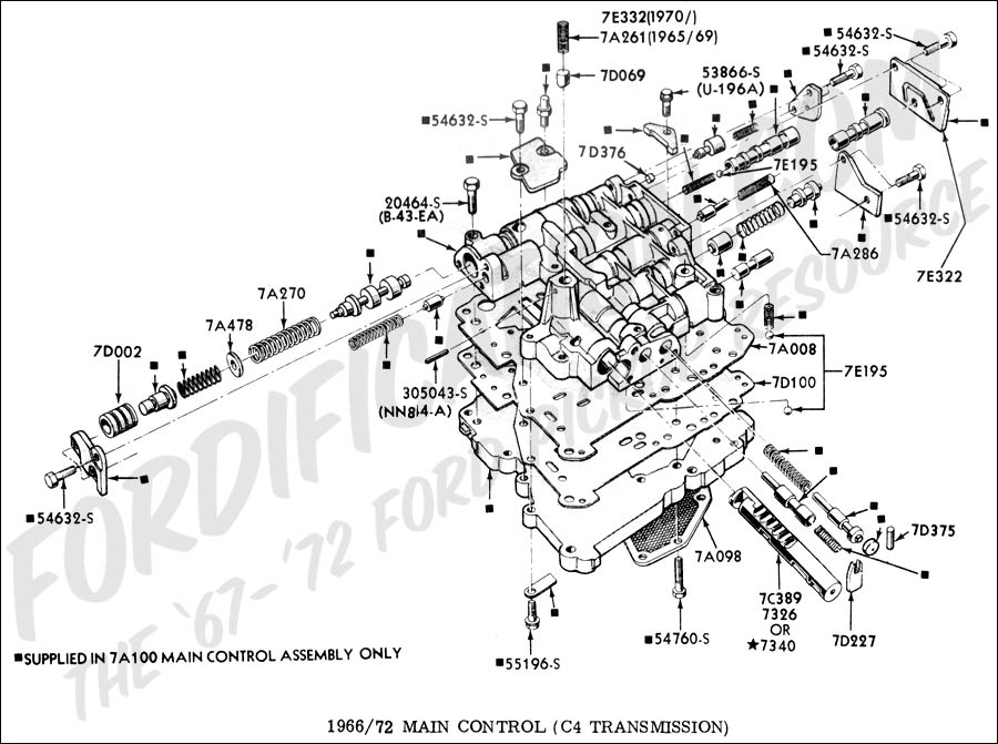 First Post - C4 valve body diagram - Vintage Mustang Forums