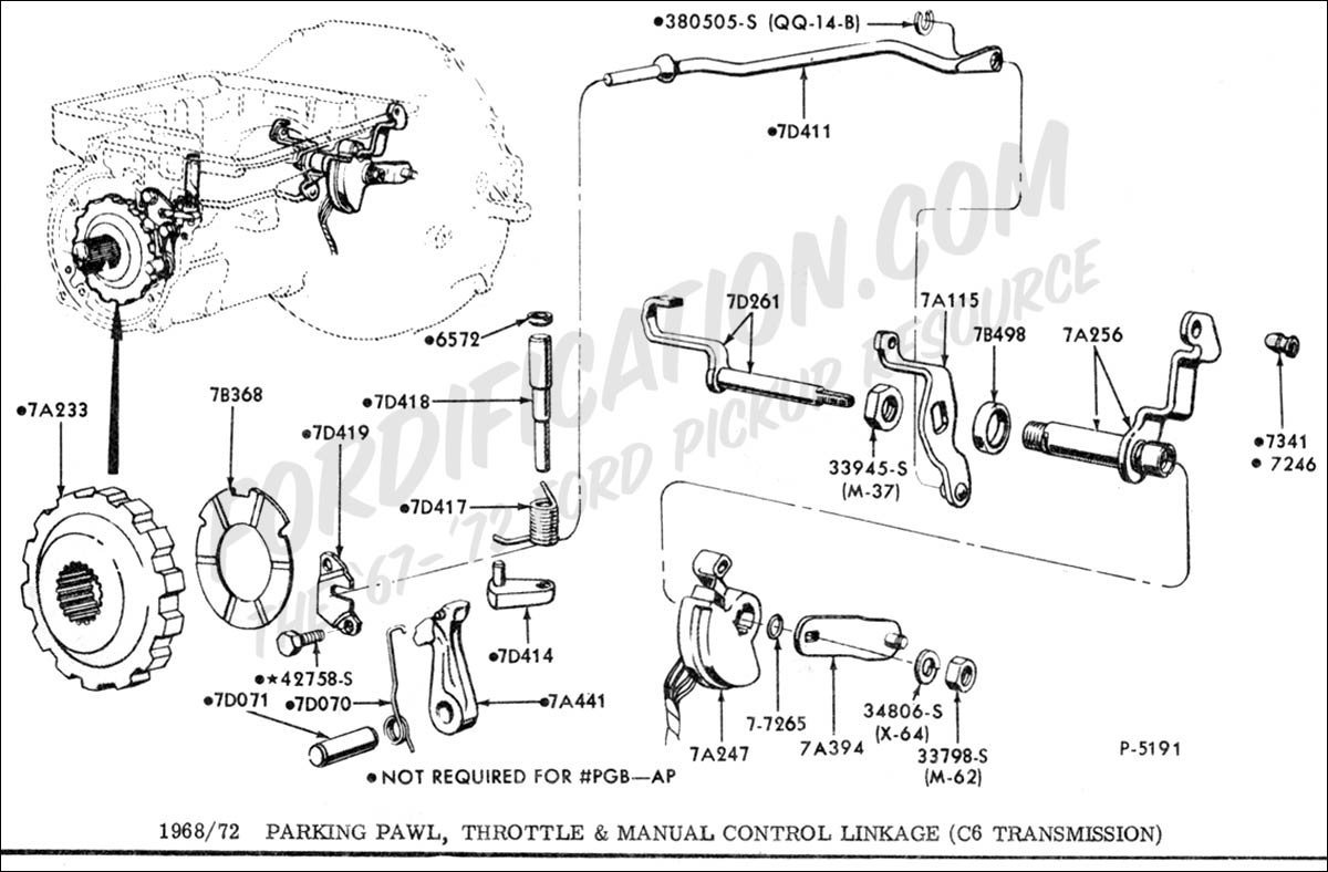 1345649 Trans Gear Selector Help on transmission modulator valve location