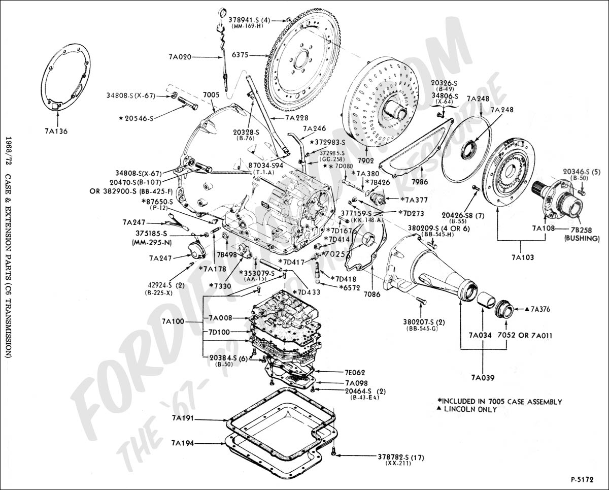 Wiring Diagram 1972 Mustang 351 Cleveland Diagrams C6 Tailshaft Lengths Ford Truck Enthusiasts S Fordificationtech Sc605