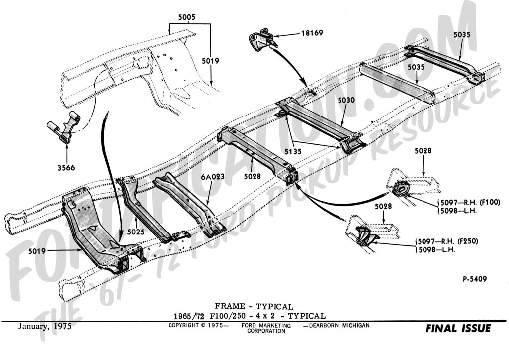 1955 Chevy Frame Vin Number Location on 72 f100 custom