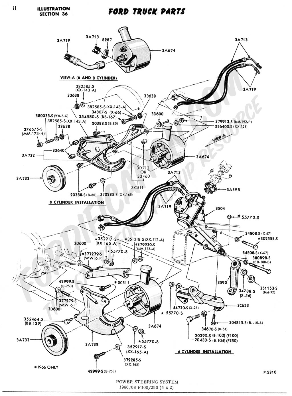 here is the power steering http://www.fordification.com/tech/image ...  eering.jpg