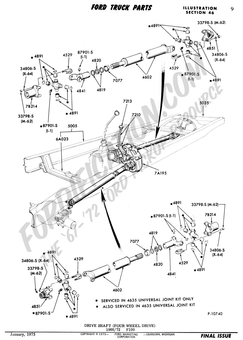 Ford truck technical drawings and schematics section a front rear axle assemblies and suspensions
