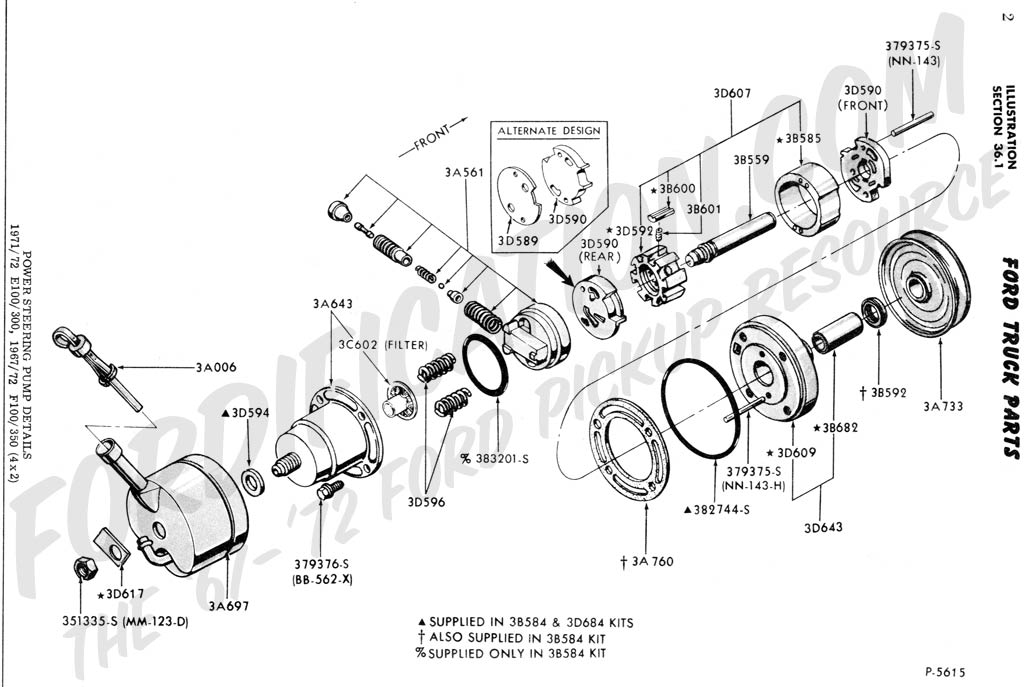 Fordf F Wd  r Steering Pump on cadillac eldorado brake line diagram