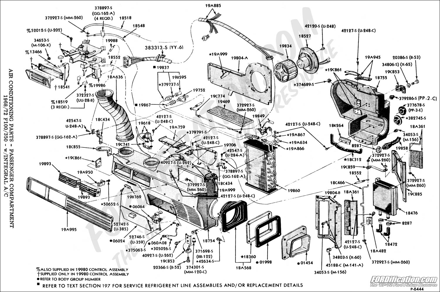 Ford Truck Part Numbers Air Conditioning Unit Factory Integral 1990 Mustang Wiring Diagram Chart
