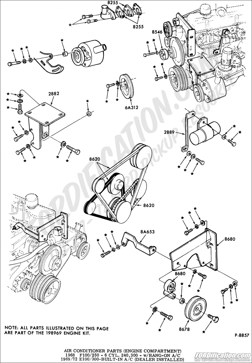 1344560 Ac Bracket For A 1967 F100 300 Engine Underdash Unit 3 on 1987 Corvette Wiring Diagram