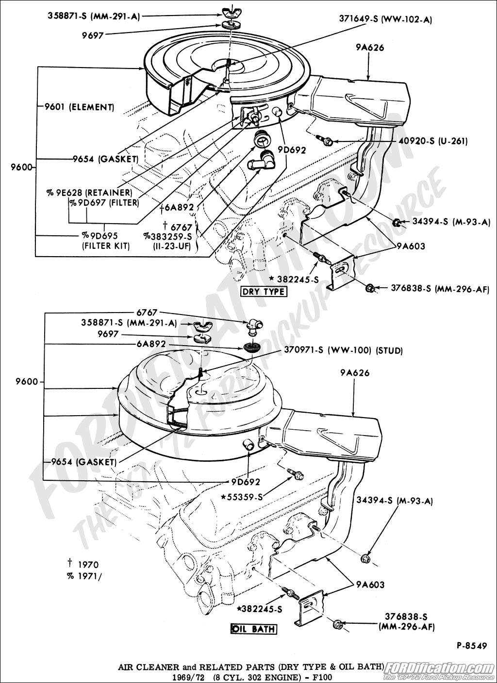 1975 F100 302 Engine Diagram