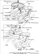ford truck technical drawings and schematics section e engine 1972 ford 4x4 pickup air cleaner and related parts (dry type & oil bath) 1969 1972 (8 cyl 302 engine) f100