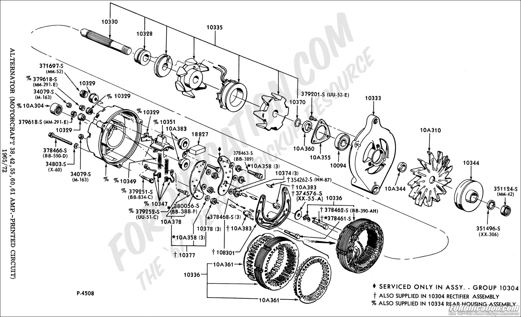 alternator01 ford truck technical drawings and schematics section i 85 Ford Alternator Wiring Diagram at edmiracle.co