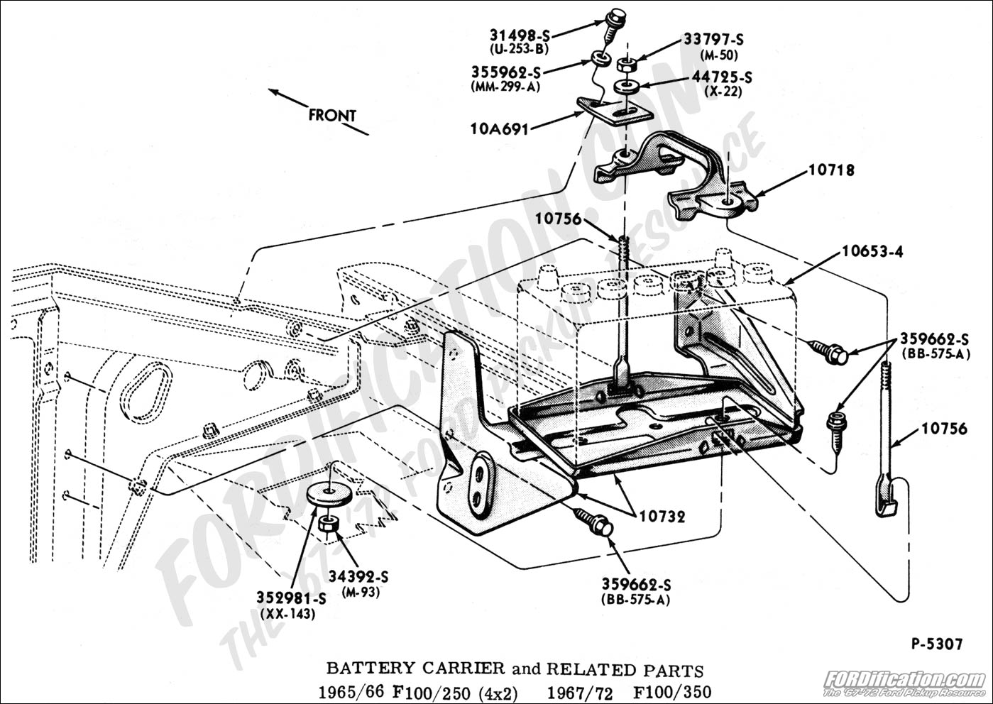 Ford Truck Technical Drawings And Schematics Section I Wiring Diagrams For 66 Bronco Distributor Electrical