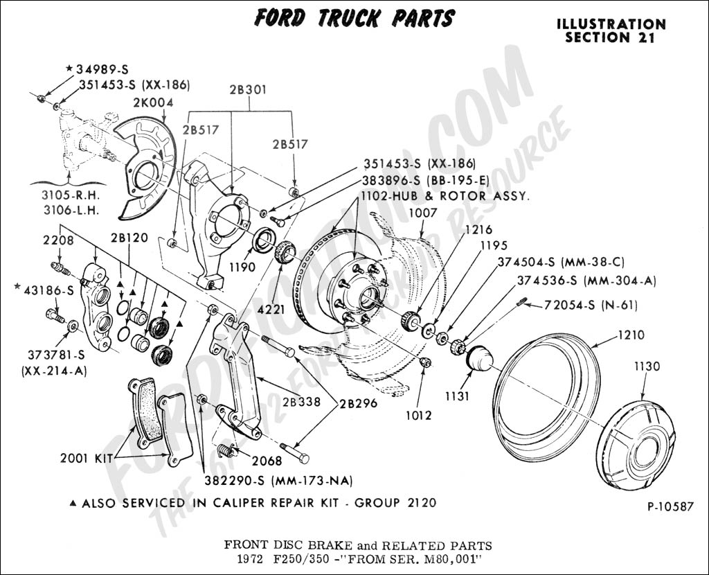 Ford Truck Technical Drawings and Schematics - Section B - Brake ...