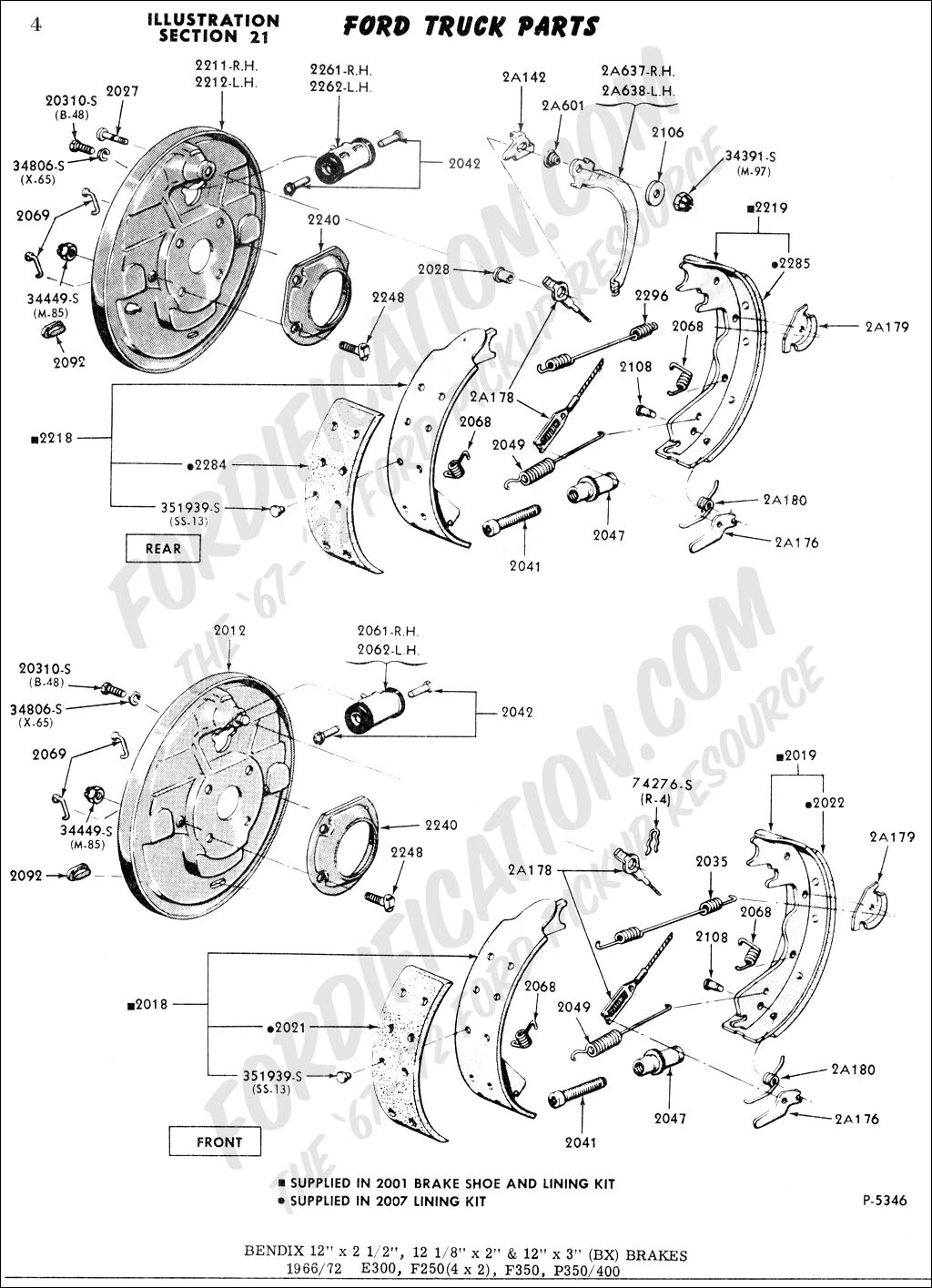 brakes01 ford truck technical drawings and schematics section b brake Ford Super Duty Wiring Diagram at panicattacktreatment.co
