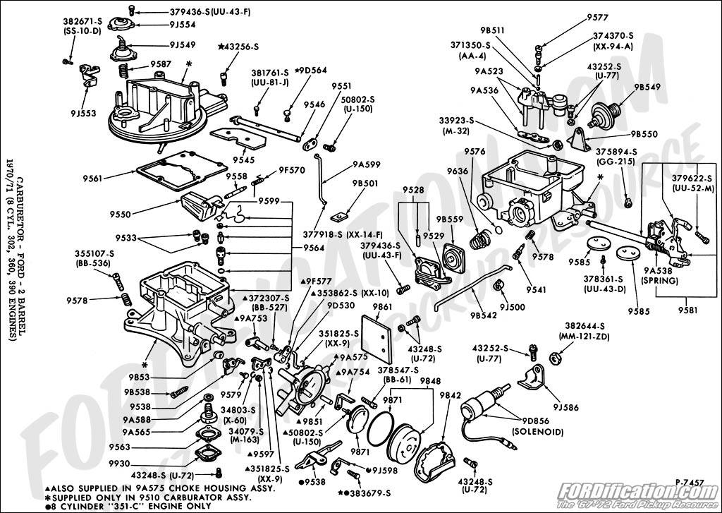 380673 1966 Mustang Autolite 2100 Carb Accelerator Pump Install Questions Print on 1965 Ford Mustang 289 Engine Diagram Parts