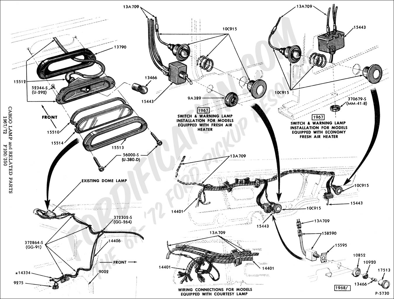 cargolight ford truck technical drawings and schematics section i 1965 ford f100 dash wiring diagram at gsmx.co