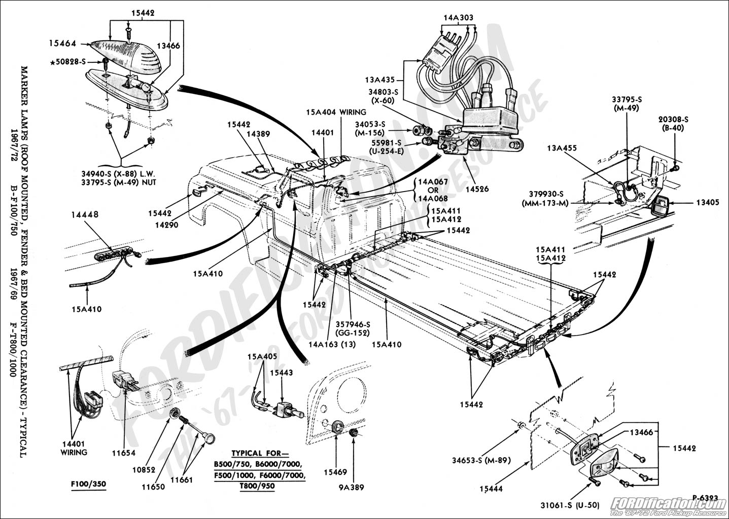 Ford Truck Technical Drawings And Schematics Section I Trailer Wiring Diagrams Additionally 7 Way Plug Diagram Electrical