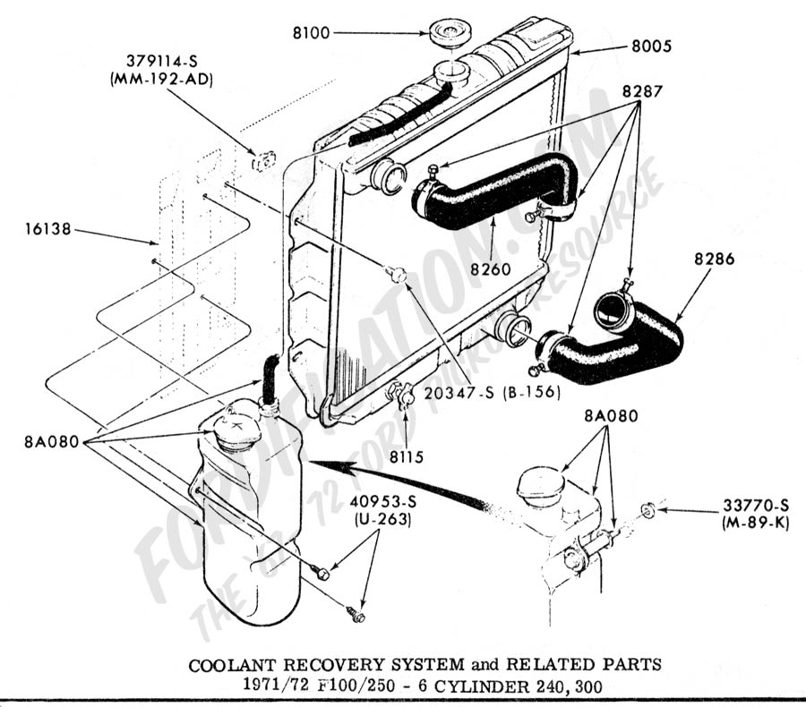 1968 ford 300 engine diagram