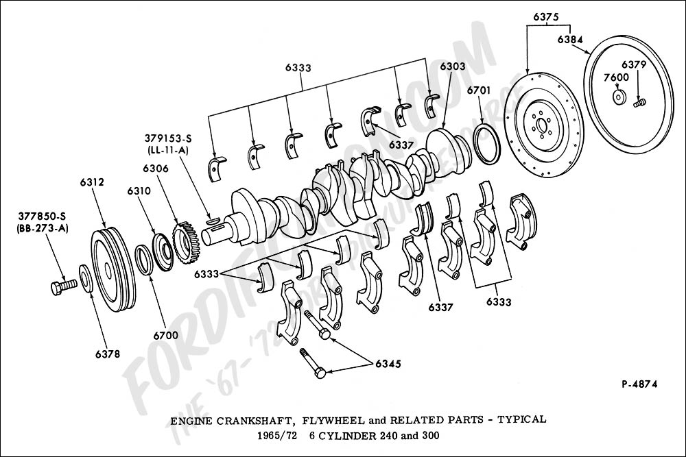 engine crankshaft diagram ford truck technical drawings and schematics - section e ... engine crankshaft diagram