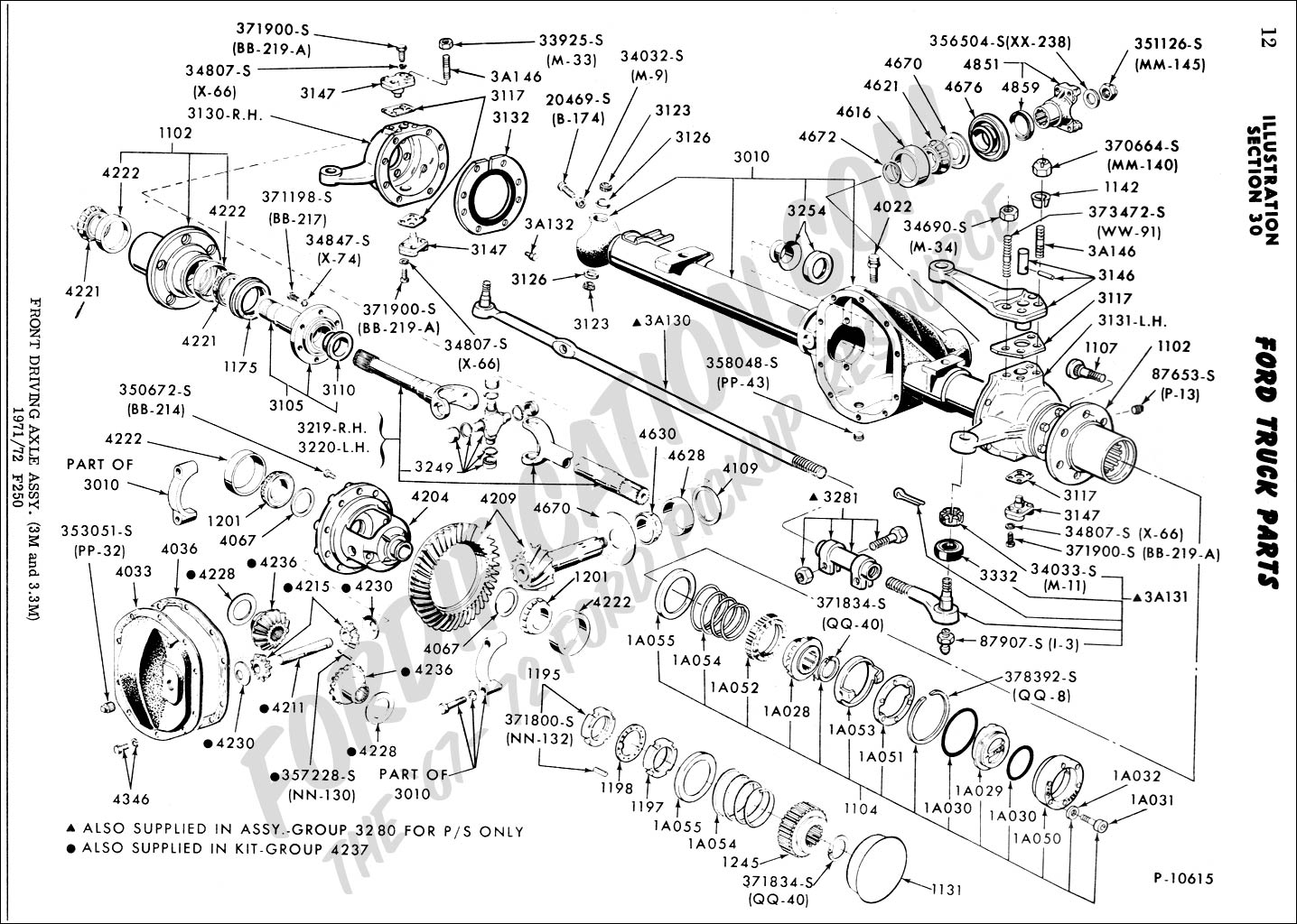 Assembly Drawing Front Driving Axle Assembly
