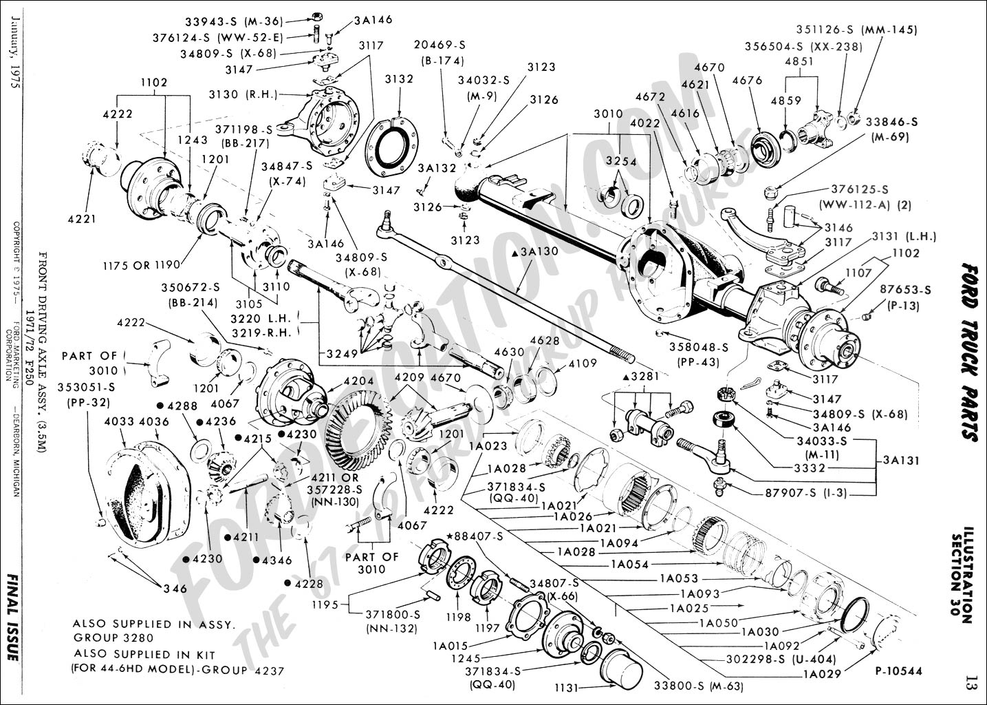 Schematics a on rear axle dana 44 exploded view