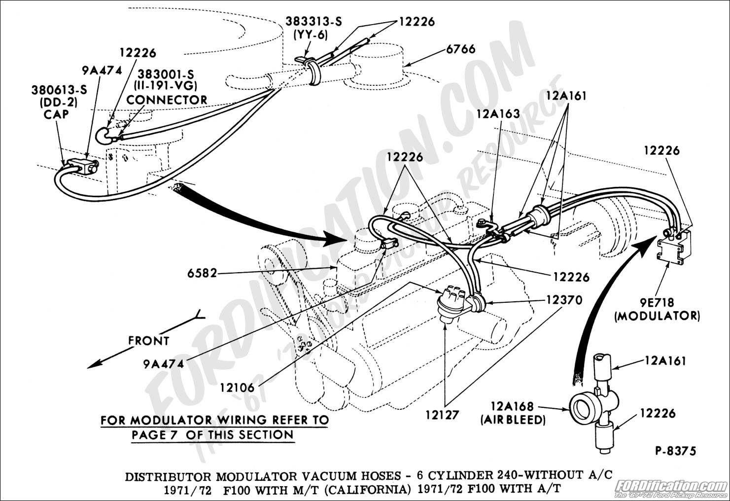 ford inline 6 vacuum line diagram