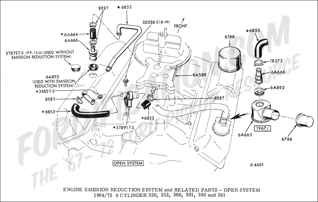 emissionFE ford truck technical drawings and schematics section e engine ford 390 engine wiring diagram at gsmportal.co