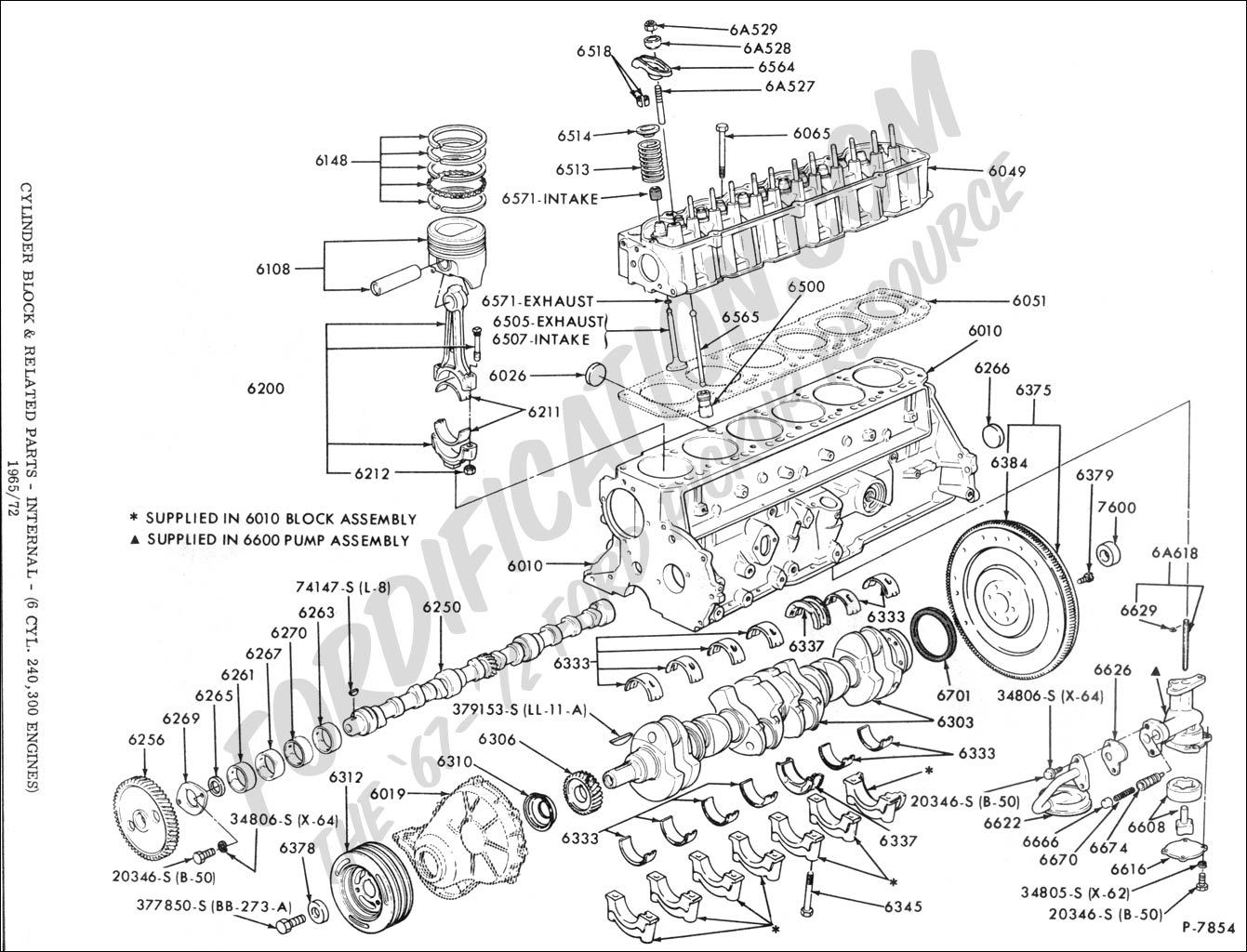 diagram of 1988 300 straight six ford engine