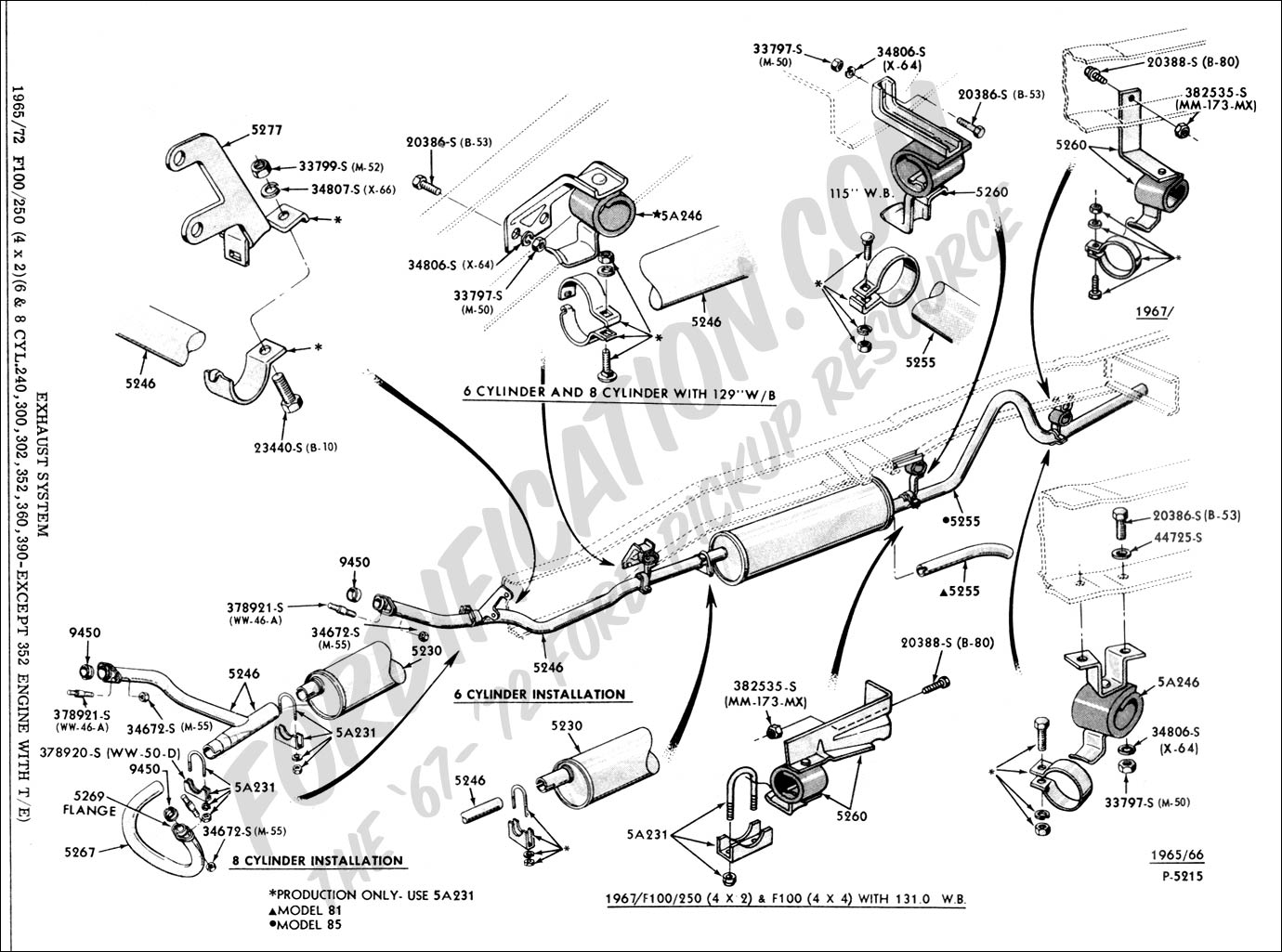 940262 Exhaust Pipe Hanger Bracket on 95 ford f 150 fuel pump wiring diagram