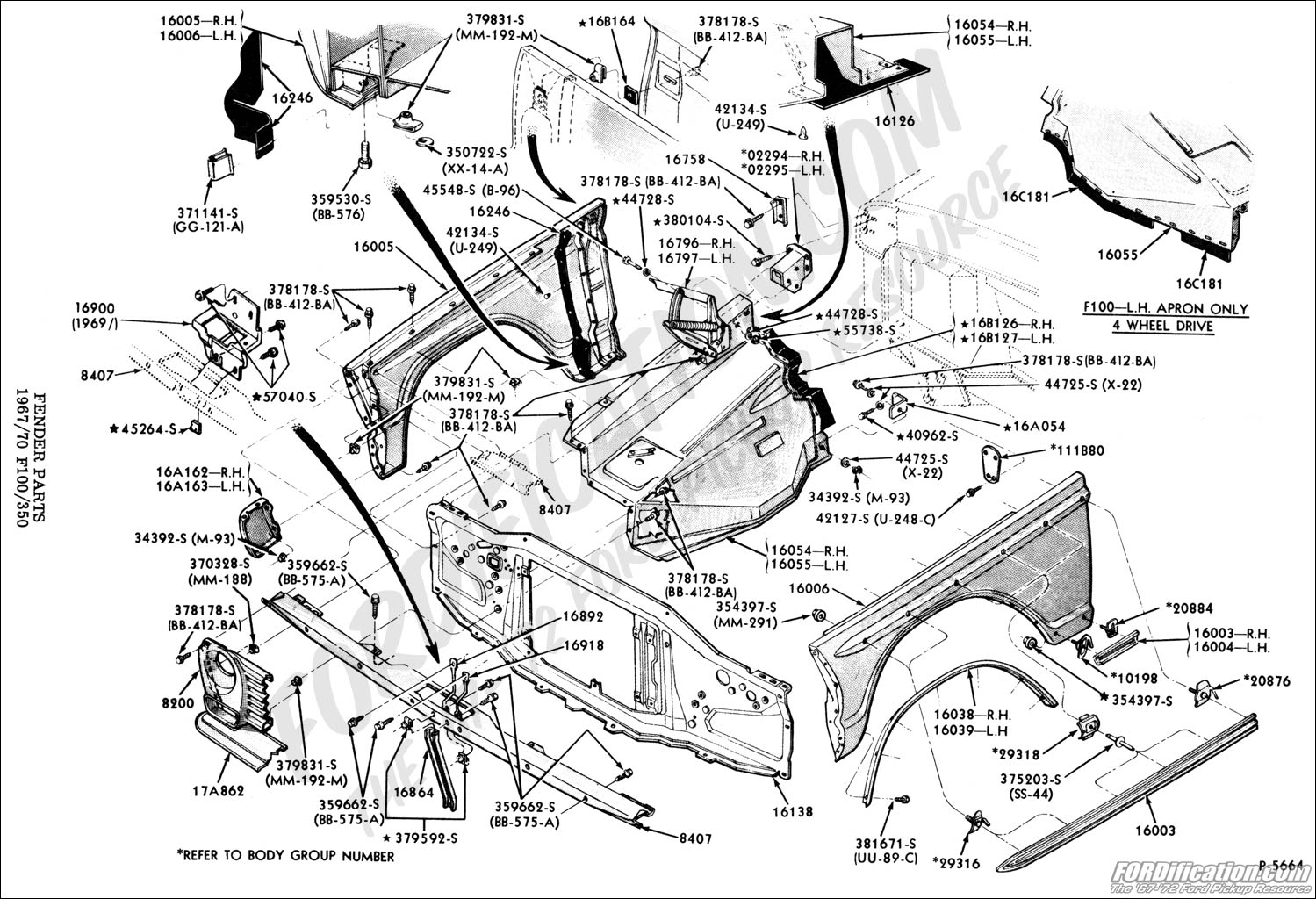 Ford F150 Body Parts Diagram on 1964 ford f100 wiring diagram for brakes
