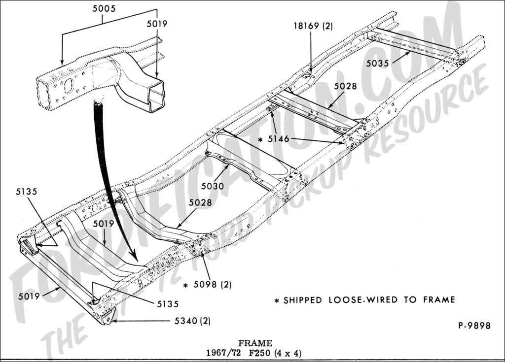 Ford Body Parts Diagram also RepairGuideContent together with S as well 1996 Ford F250 Frame Parts in addition 4k4qd Ford Ranger 4x2 1988 Ford Ranger Ext Cab 2 9l V6 Going. on ford f150 crossmember frame parts
