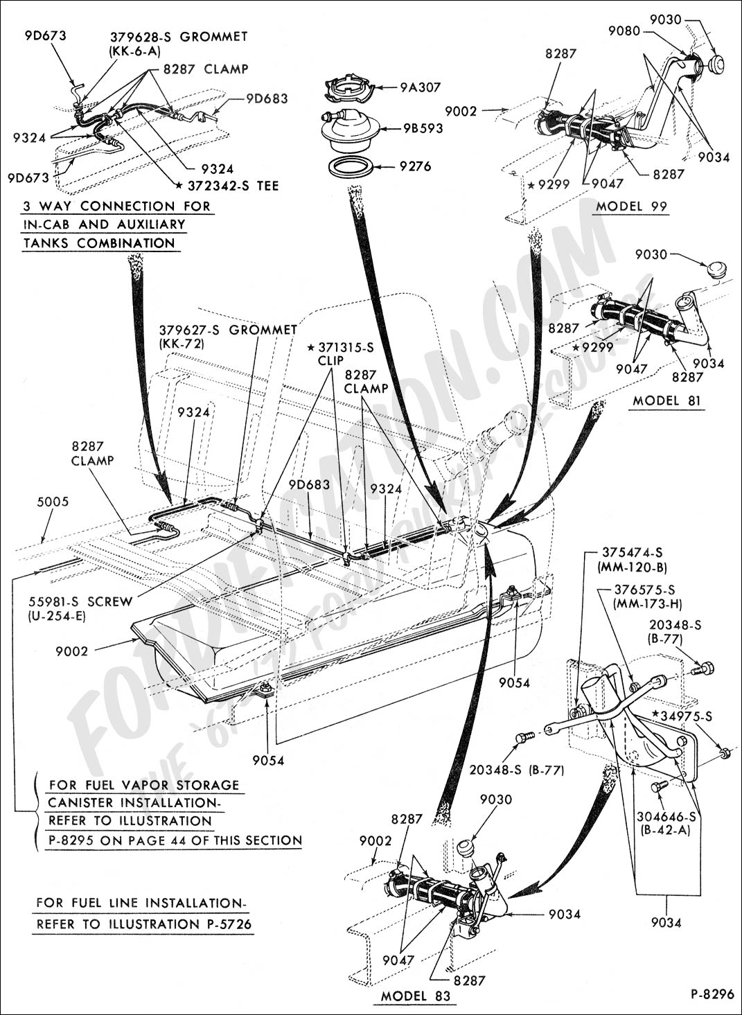 67-72 F-100 Fuel System Diagram