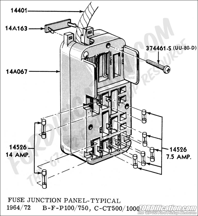 ford truck technical drawings and schematics section i fuse junction panel typical
