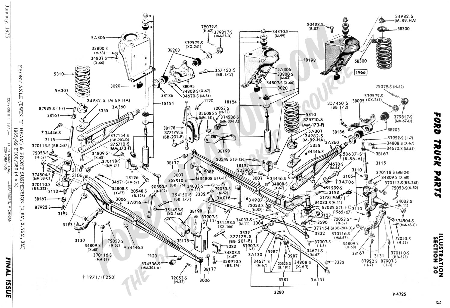 Ford Truck Technical Drawings and Schematics - Section A - Front ...