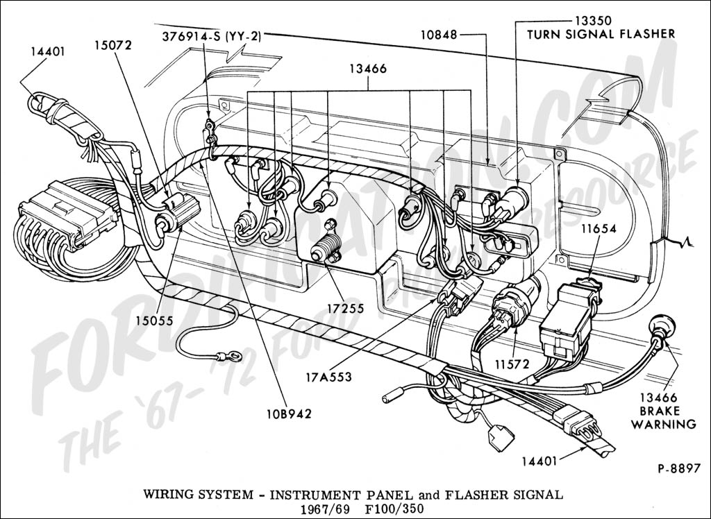 instrupanel_6769 ford truck wiring harness ford wiring diagrams for diy car repairs 1970 ford f100 turn signal wiring diagram at mifinder.co