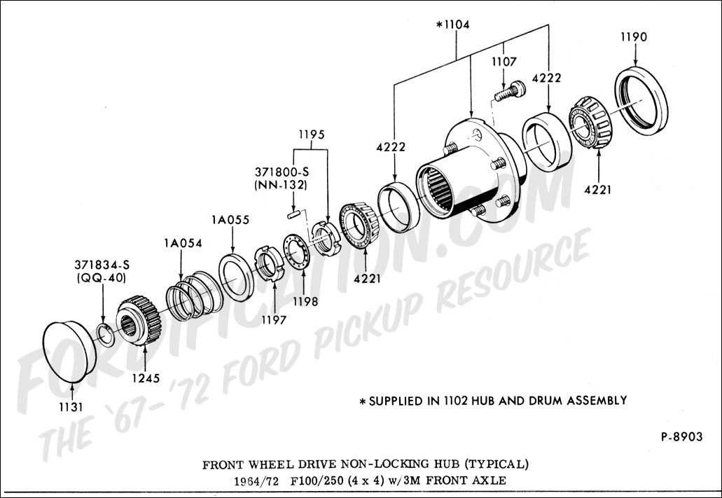 diagrams for 1994 ford f250 4x4 front wheel bearing