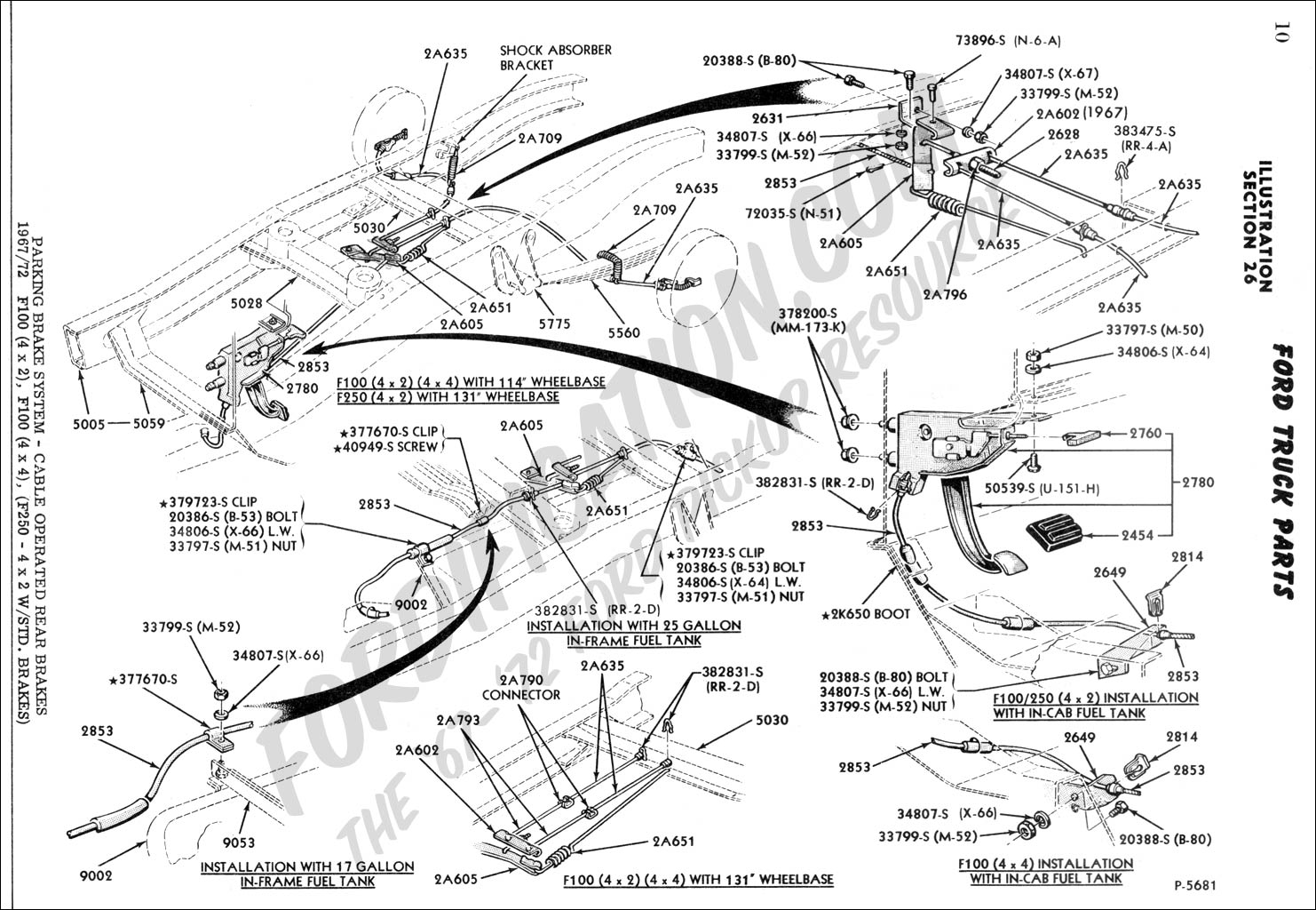 Ford Brake Diagram 2002 Custom Wiring 1990 Escort 1968 F100 Parking Example Electrical Rh Huntervalleyhotels Co Drum