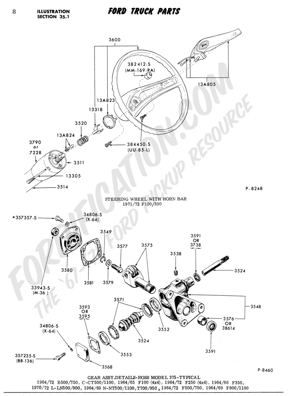 pwrsteering box_4WD ford truck technical drawings and schematics section c 1969 ford f100 steering column wiring diagram at gsmportal.co