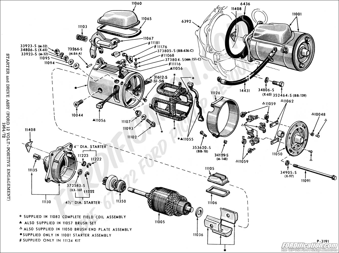 starter ford truck technical drawings and schematics section i 2004 ford explorer starter wire diagram at gsmx.co