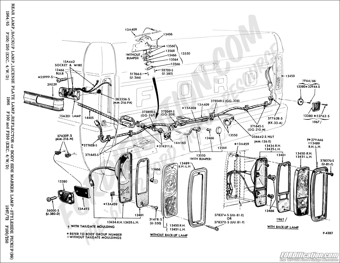 1964 ford f100 tail light wiring diagram  ford  auto parts