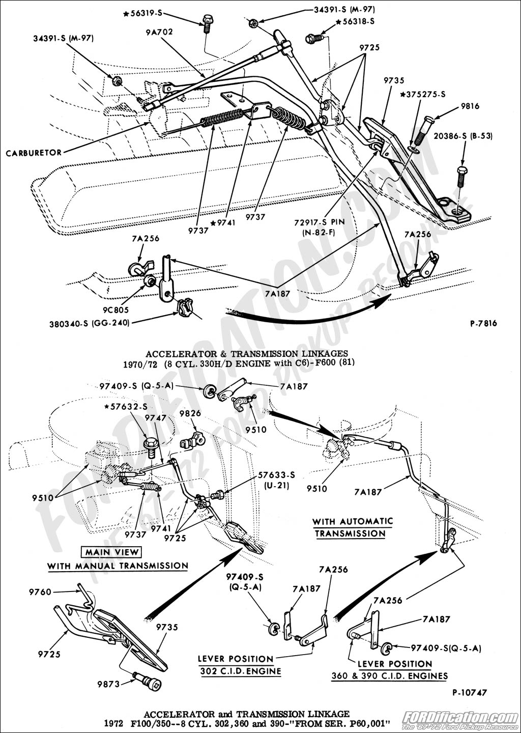 68 Ford Throttle Linkage Diagram Explore Wiring On The Net Further Tecumseh Engines Carburetor Briggs And Kick Down For 1972 F100 360 2 Barrel Rh Trucks Com