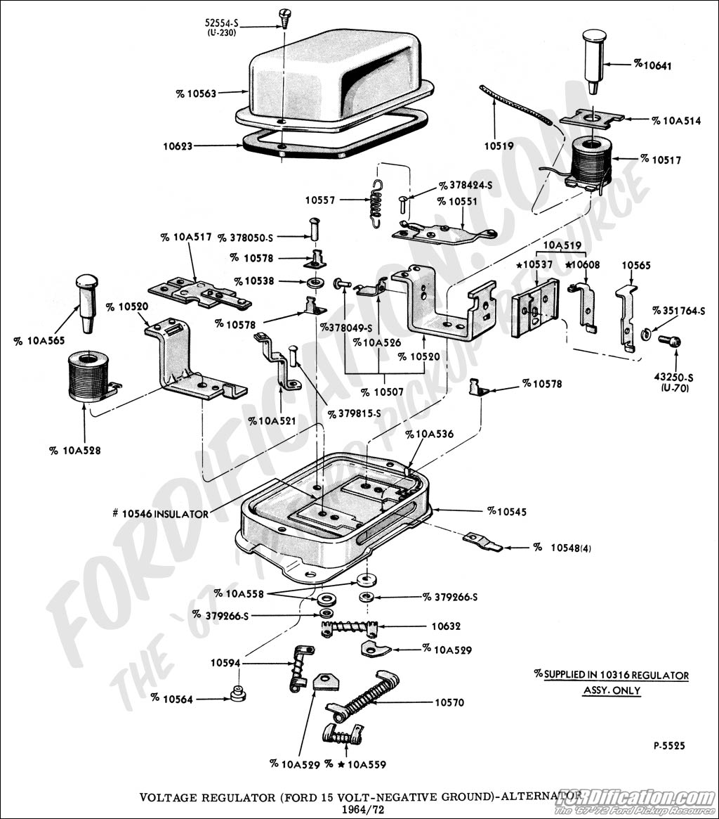 voltageregulator ford truck technical drawings and schematics section i Ford Electrical Wiring Diagrams at virtualis.co