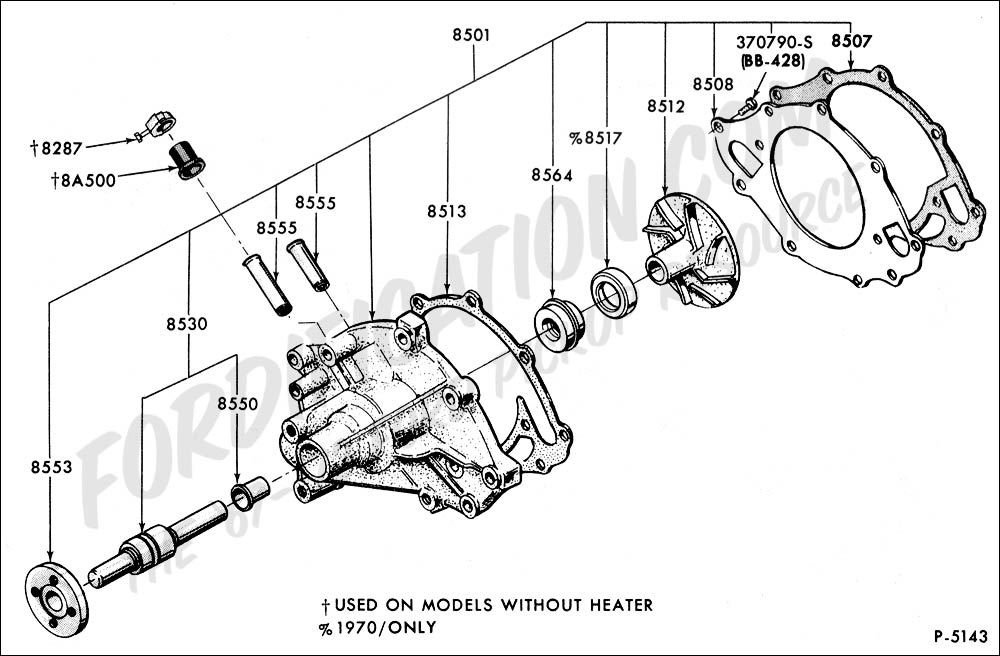 ford 302 thermostat housing diagram
