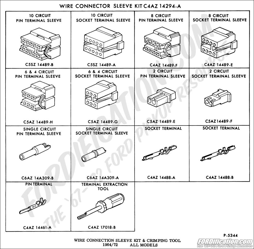 Ford Truck Technical Drawings And Schematics Section I Escape Wiring Harness Connectors Electrical