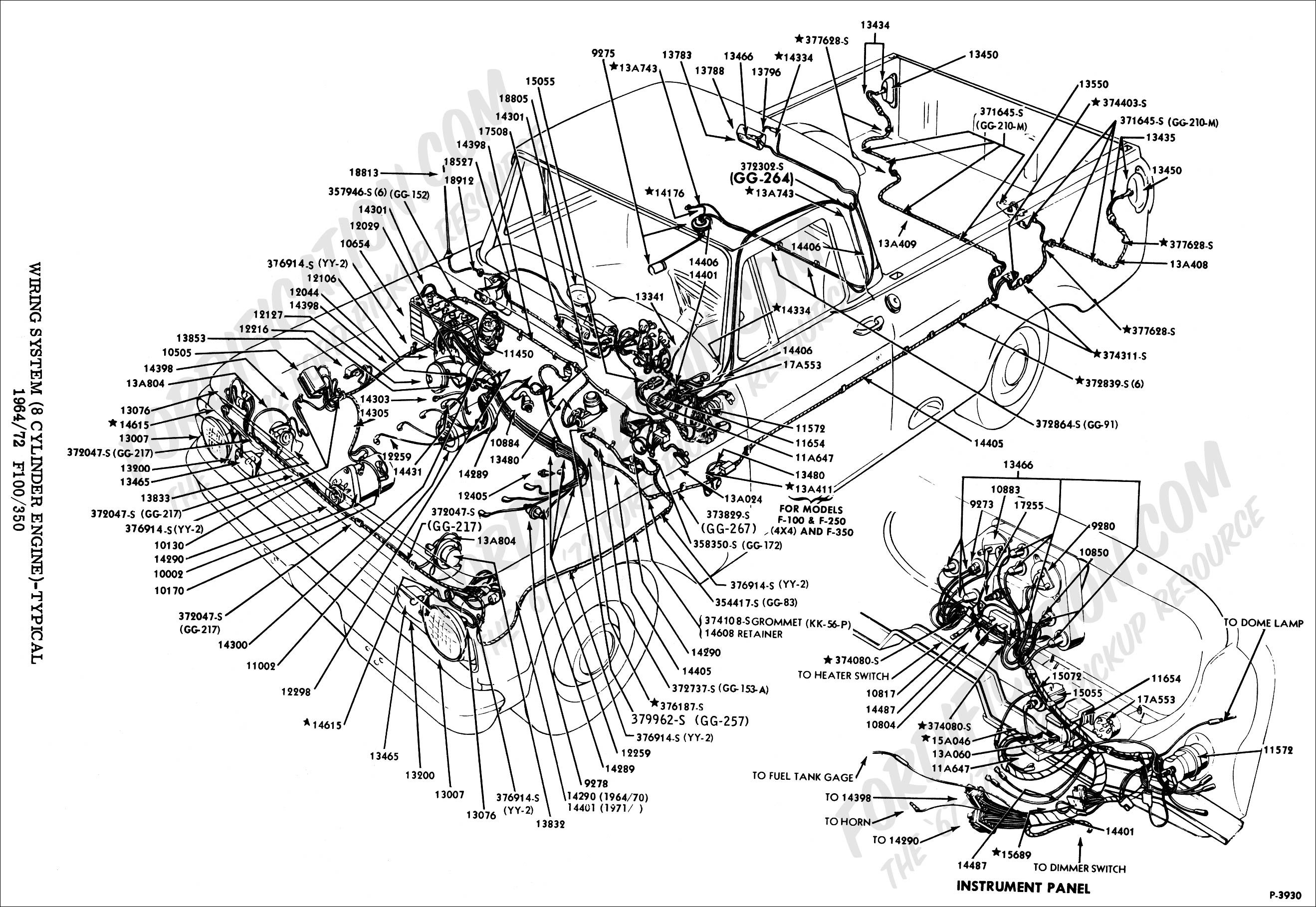 wiringsystem_HI 1964 f100 wiring diagram 1965 f100 wiring diagram \u2022 free wiring wiring harness 1964 mustang at bayanpartner.co